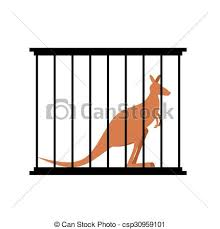 zoo animals in cages clipart. Contemporary Zoo Kangaroo In Cage Animal Zoo Beh  Csp30959101 In Animals Cages Clipart H