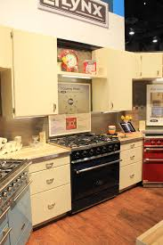 Aga Kitchen Appliances Aga Colorful Ranges And A Retro Kitchen At Kbis Retro Renovation