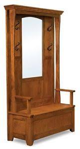 Amish Coat Rack Amish Rustic Wood Hall Tree Storage Bench Mirror Hallway Entryway 23
