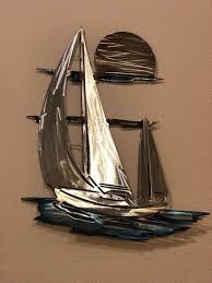 sailboat metal art metal wall art