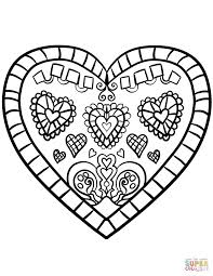 Valentines Hearts Coloring Pages Page Love Free Heart Valentine ...