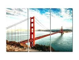 bridge wall art golden gate 3 panels canvas print painting ikea 6 gallery metal bridg