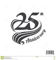 Design Th 25 Th Anniversary Logo And Symbol Design Stock Vector