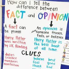 Fact Vs Opinion Anchor Chart 18 Nonfiction Anchor Charts For The Classroom Weareteachers