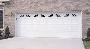 cascade garage doorGarage Door  Traditional Short Panel with Cascade Windows Almond