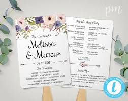 Wedding Program Fans Cheap Free Wedding Program Templates Wedding Program Ideas
