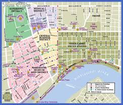 garden district new orleans walking tour map. Simple District Maps Update 13581036 Tourist Map New Orleans Of Inside Garden District Walking Tour D