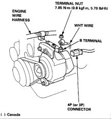 how do you replace the alternator on a 1998 honda civic dx sedan? alternator plug won t come out at How To Disconnect Alternator Wiring Harness