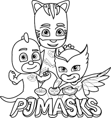 Coloring Pages Pj Masks Coloring Pages Best For Kids Freeintable