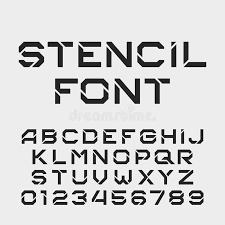 Number Stencil Font Stencil Letters Barca Fontanacountryinn Com