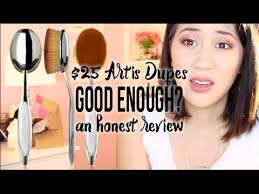 honest review of the 2 50 artis dupe oval brush set from my makeup brush set you