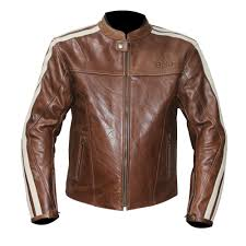 bela fresco brown leather jacket