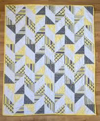 431 best Quilts & Blocks - HST images on Pinterest | Modern quilt ... & Herringbone Half Square Triangle Baby Quilt Matches the yellow sock monkey  pattern haha Adamdwight.com