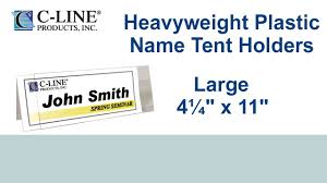 name tent large rigid heavyweight plastic name tent holder 4 1 4 x 11 25 bx