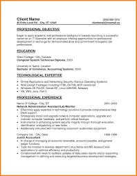 6 Entry Level Resume Objectives Precis Format
