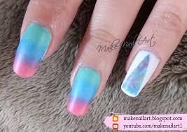 Make Nail Art: Abstract Triangle Ombre Nail Art Design Tutorial