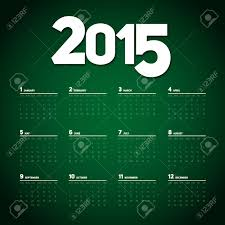 Simple 2015 Calendar Simple 2015 Calendar Design Week Starts With Sunday Vector Royalty