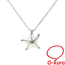 tiffany star fish necklace lady s sv925 3 4 g tiffany co silver starfish pendant deep exemption from taxation a4028606