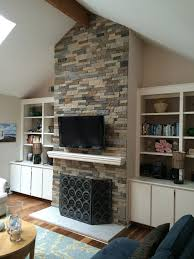 the delightful images of airstone faux stone fireplace