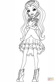 Small Picture Ever After High Raven Queen coloring page Free Printable