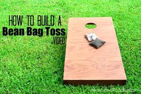 wood bean bag toss game how to build a bean bag toss sew woodsy sew
