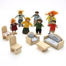 dollhouse furniture sets. plain sets 12 piece lot plan toys dollhouse wooden furniture set wood doll people  family with sets