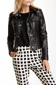 kenneth cole new yorkfaux leather moto jacket