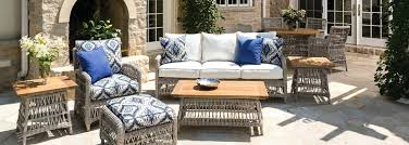 E Collection Woven Vinyl Wicker Furniture Pertaining To Lloyd Flanders  Plans Outdoor Replacement Cushions