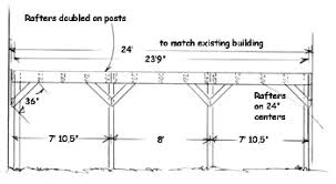 Build an Attached Carport   Extreme How ToSide Drawing