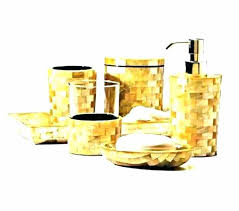gold bath sets mother of pearl bathroom accessories set all rose