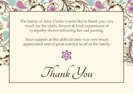 Thank You Sympathy Cards Sympathy Thank You Card Template Cumed Org