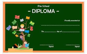 free preschool certificates diploma certificate for preschool free printable 4 one package