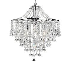 searchlight dorchester 5 light chandelier chrome finish with clear crystal ons drops 3495 5cc