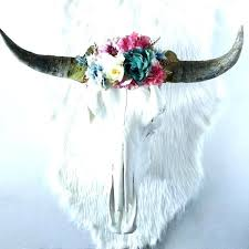 bull skull wall decor steer skull decor bull horn wall decor colorful spring meadow fl crown bull skull wall decor