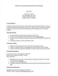 Bunch Ideas of Security Specialist Resume Sample In Cover