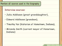 Outline For Writing A Biography How To Write A Biography With Examples Wikihow
