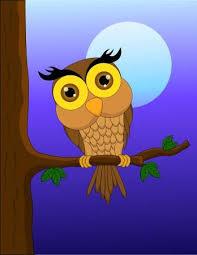 Vector Illustration Of <b>Cartoon Owl</b> Sitting On <b>Tree</b> Branch With ...