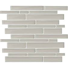 linear glass mosaic tile amity grey random linear glass mosaic 7 x rip curl green and