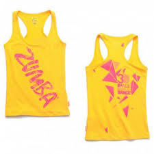 Details About Zumba 3d Racerback Tank Top Yellow Size Xxl Brand New Free Shipping