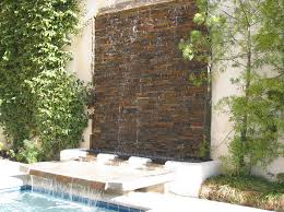 outdoor patio water feature stunning garden rock wall how to build ideas