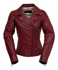 all gone oxblood princess cut leather moto jacket women