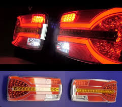 Camper Lights Pair 2x Led Neon Combo Rear Tail Lights Dynamic Indicators Truck Van Camper Bus