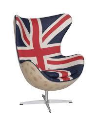 Hirshorn Spitfire Chair in Vintage Union Jack Denim