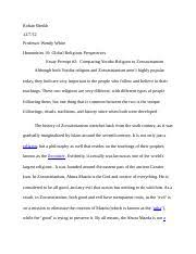 rite of passage essay rohan sheikh professor wendy white  4 pages rite passage essay 2