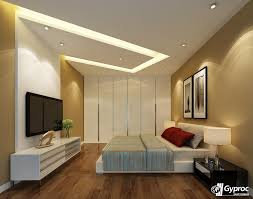 Make your bedroom look elegant and stunning with beautiful Gyproc India  #falseceiling designs! Visit