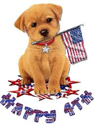 funny dog happy 4th of july wish