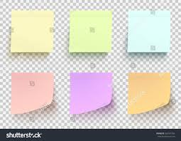 Colored Paper Stickers Set Shadowed Sticky Stock Vector 635181455