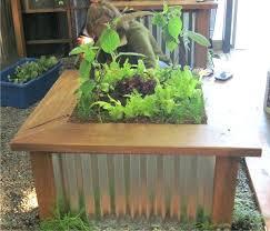 corrugated steel planter