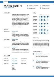 Sales Manager Cv Template Sales Manager Cv Example Dayjob Com