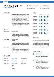 Modern Resume Builder For Sales Sales Manager Cv Example Dayjob Com